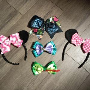 Disney bows & Minnie ears